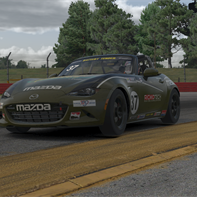 BT S1R4 - Battling to stay in Top 10 - Aaron Jeansonne 37 Using All the Curbing while Running 5th at MidOhio