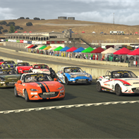 BT MX5 - Round 5 - Grid at Laguna Seca